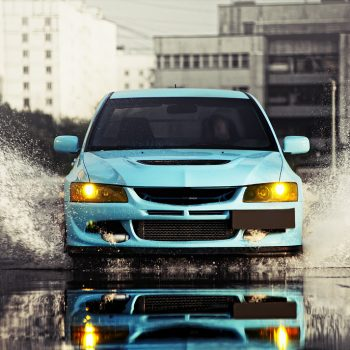 Brightly Mitsubishi Lancer EVO 8