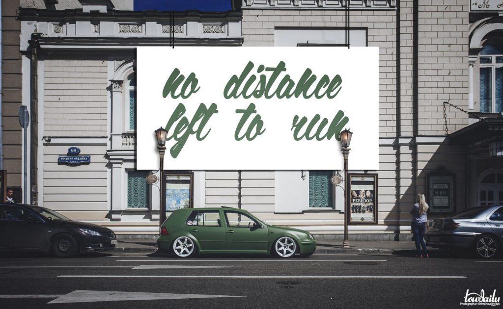 No distance left to run   Volkswagen Golf 4