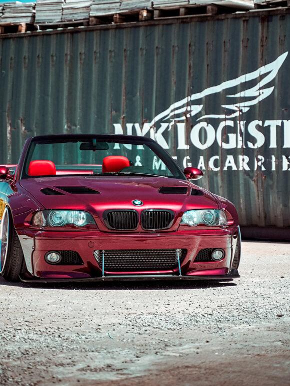 BMW E46 – Wildberry Red Pandem