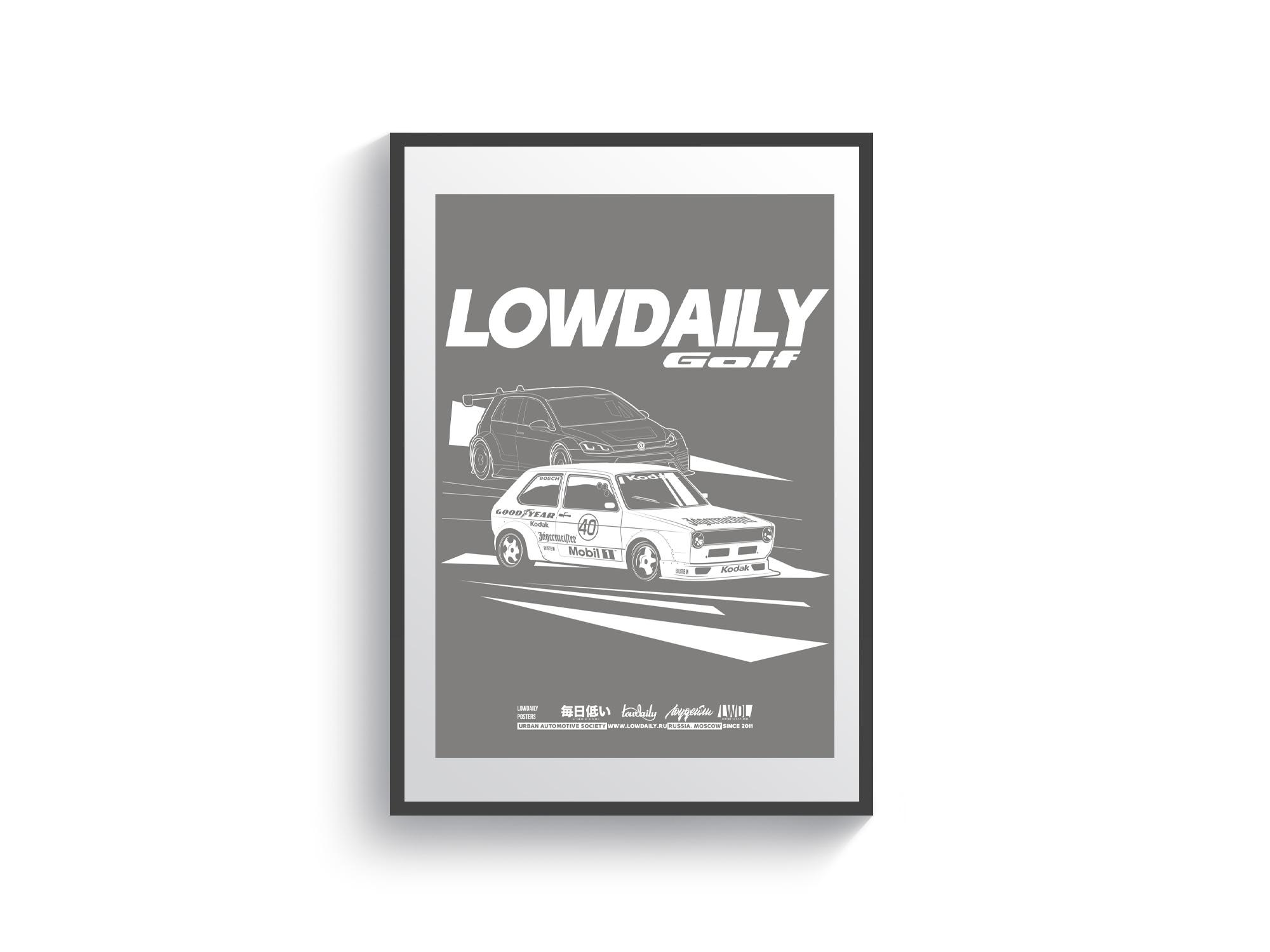 Постер Volkswagen Golf 40 Jahre