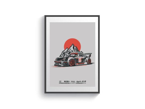 Постер Porsche RWB 964 Apple