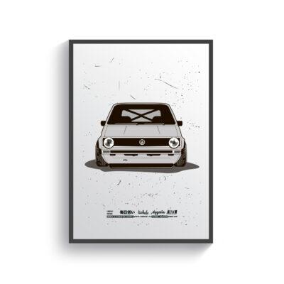 Постер Volkswagen Golf MK1 1982
